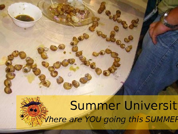 Where are YOU going this SUMMER? Summer University
