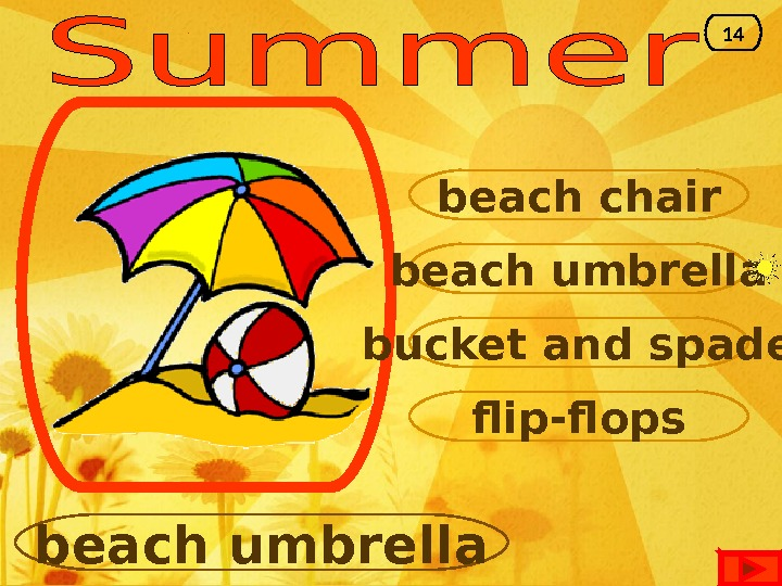 beach umbrella beach chair bucket and spade flip-flops beach umbrella 14