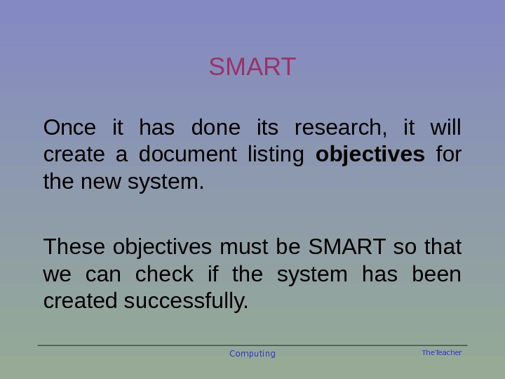 The. Teacher. SMART Once it has done its research,  it will create a document listing