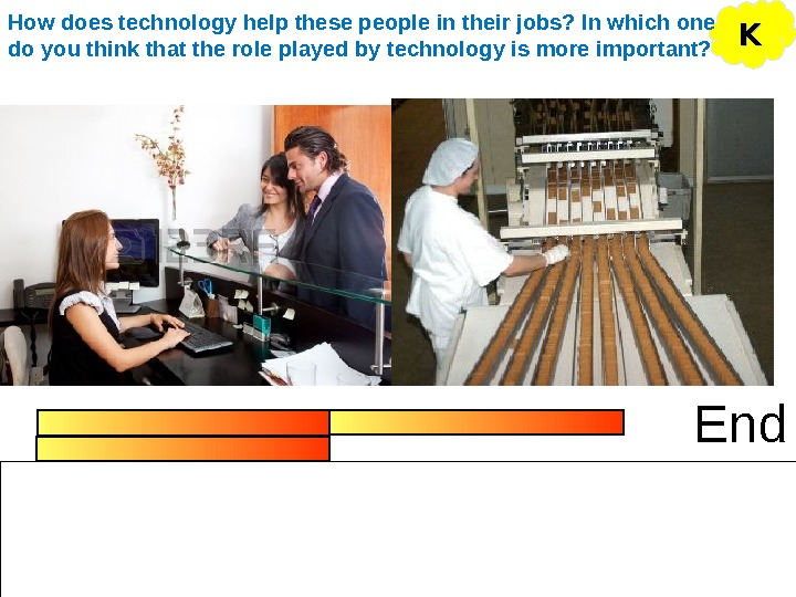 End KKHow does technology help these people in their jobs? In which one do you think