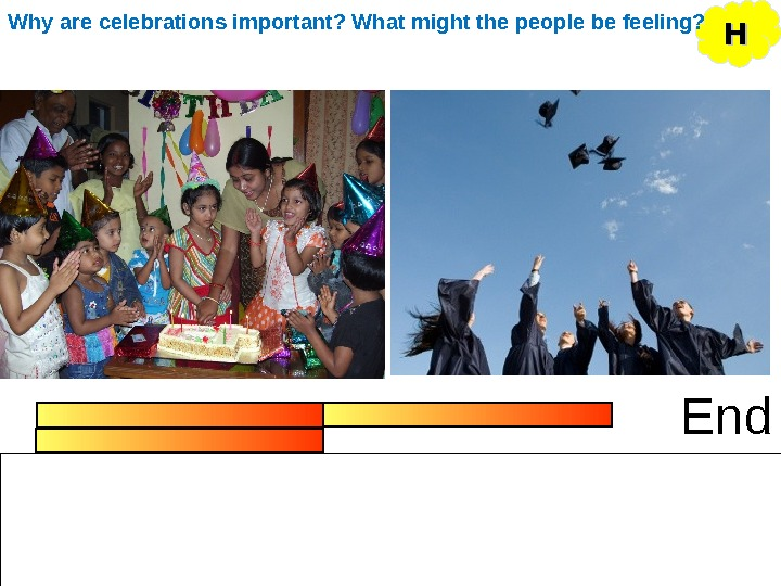 End HHWhy are celebrations important? What might the people be feeling?