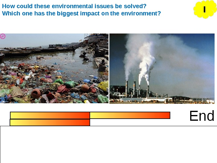 End IIHow could these environmental issues be solved? Which one has the biggest impact on the