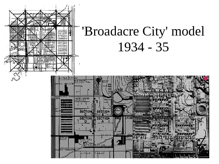 'Broadacre City' model 1934 - 35