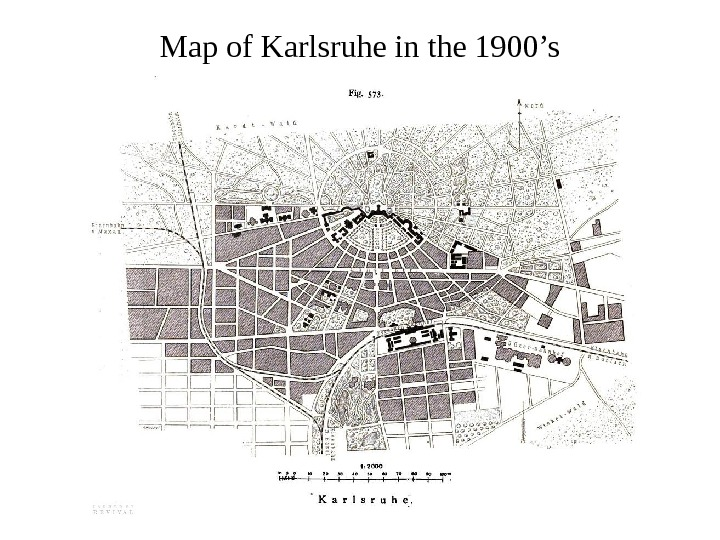 Map of Karlsruhe in the 1900's