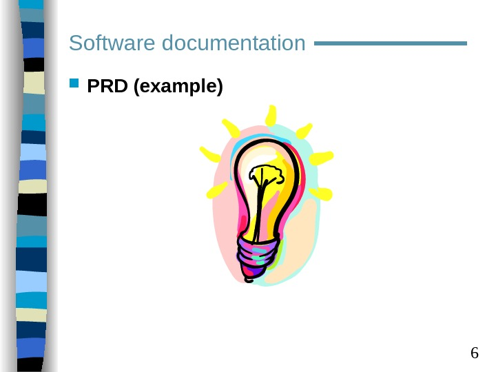 6 Software documentation PRD (example)