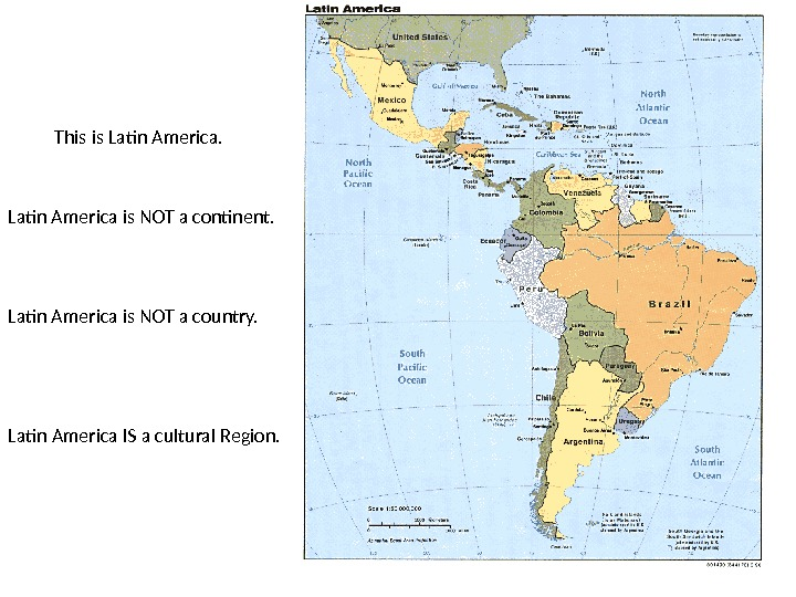 This is Latin America is NOT a continent. Latin America is NOT a country. Latin America