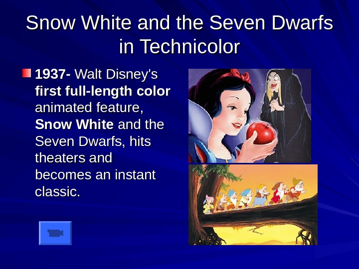Snow White and the Seven Dwarfs in Technicolor 1937 - Walt Disney's first full-length