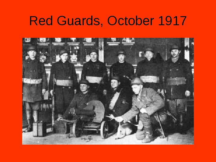 Red Guards, October 1917