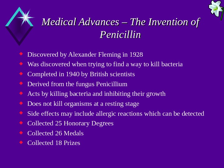 Medical Advances – The Invention of Penicillin Discovered by Alexander Fleming in 1928 Was