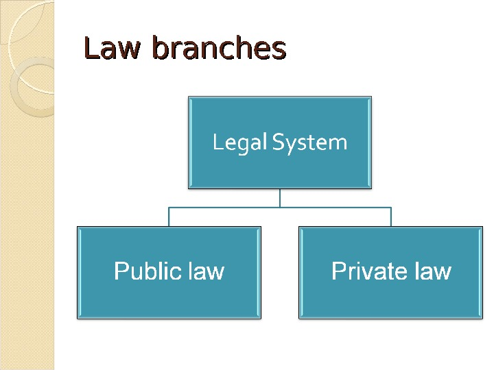 Law branches