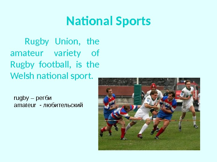 National Sports   Rugby Union,  the amateur variety of Rugby football,  is the