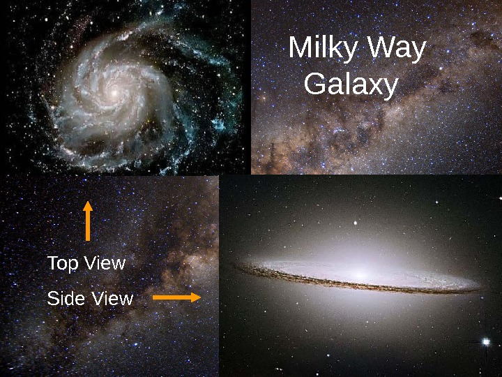12      Milky Way   Galaxy Top View Side View