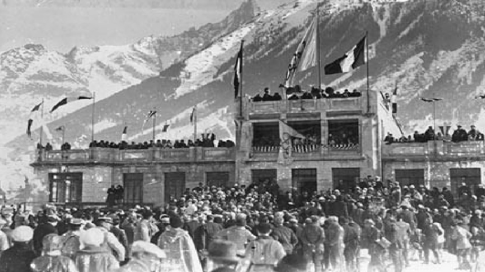 • The first Winter Olympic Games were held in Chamonix in France from January 25