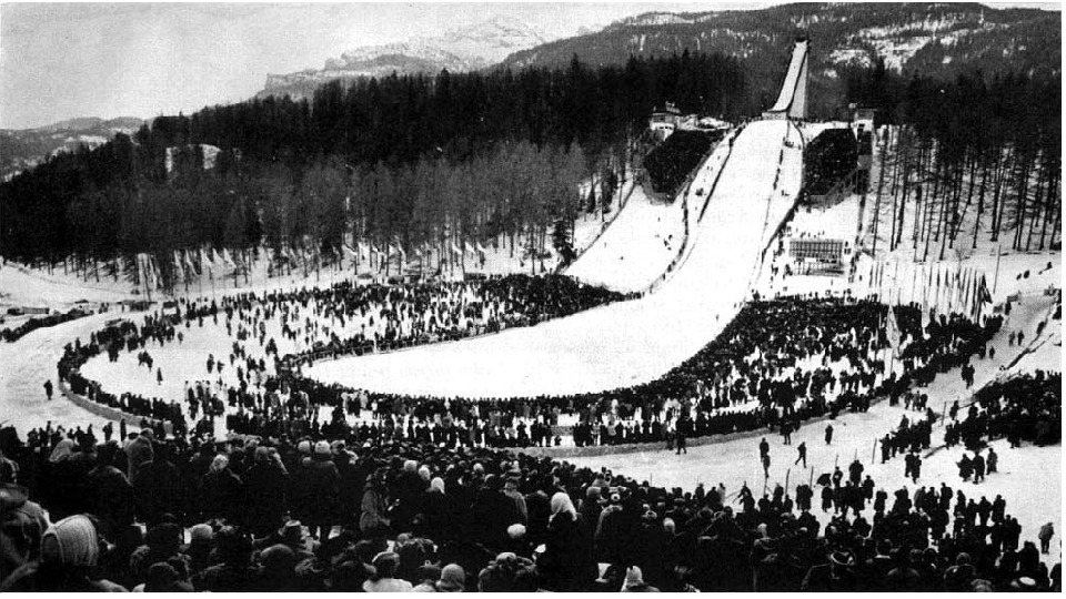 • Seventh Winter Olympic Games (1956). In a famous winter sports center Cortina d '