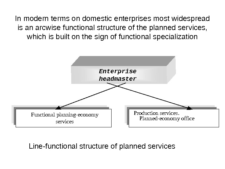 In modern terms on domestic enterprises most widespread is an arcwise functional structure of the planned