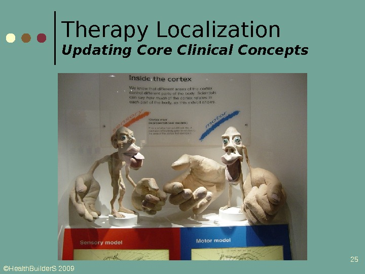 ©Health. Builder. S 2009 25 Therapy Localization Updating Core Clinical Concepts