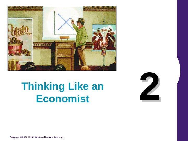 Copyright © 2004 South-Western/Thomson Learning 22 Thinking Like an Economist