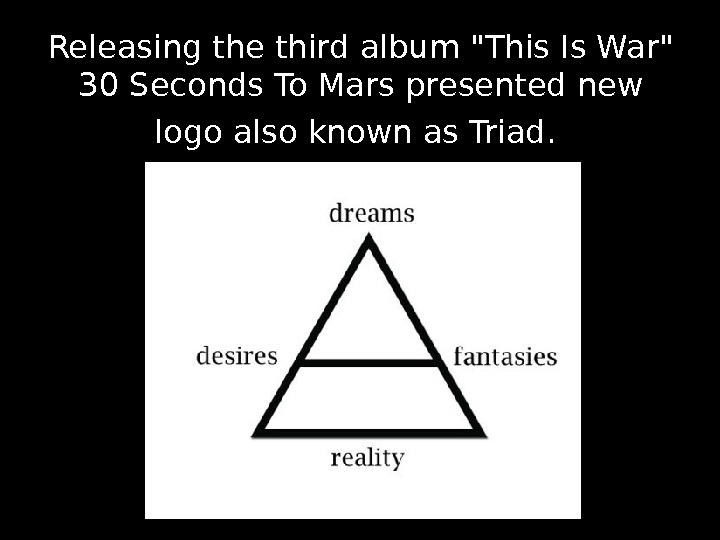 Releasing the third album This Is War 30 Seconds To Mars presented new logo