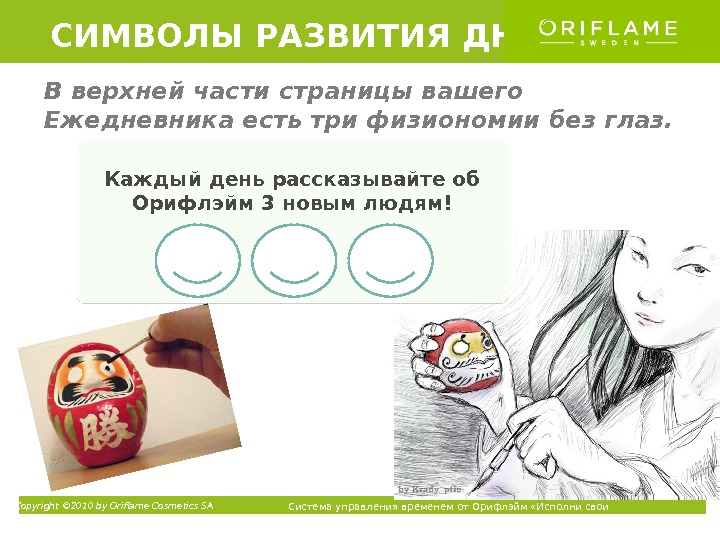 Copyright © 2010 by Oriflame Cosmetics SA Система управления временем от Орифлэйм «Исполни свои мечты» ТМКаждый