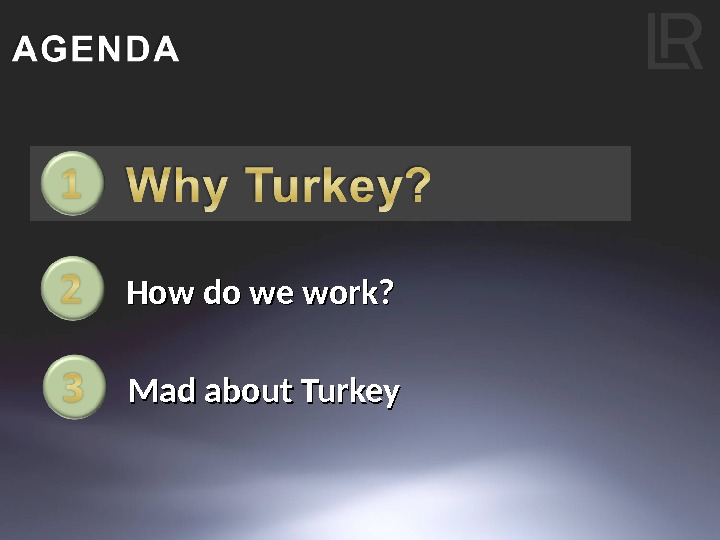 How do we work? Mad about Turkey