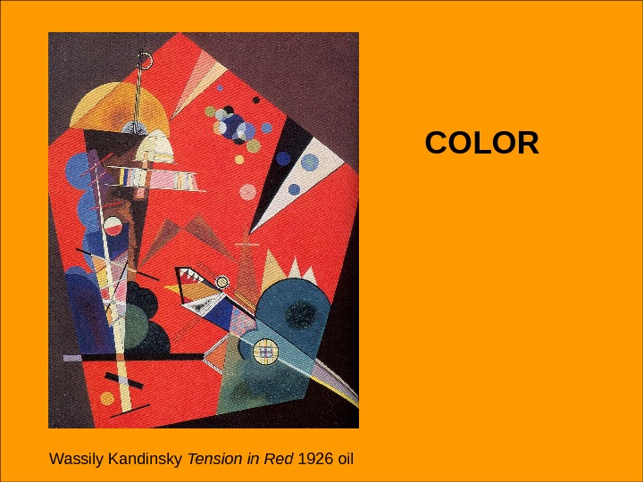 COLOR Wassily Kandinsky Tension in Red 1926 oil COLOR