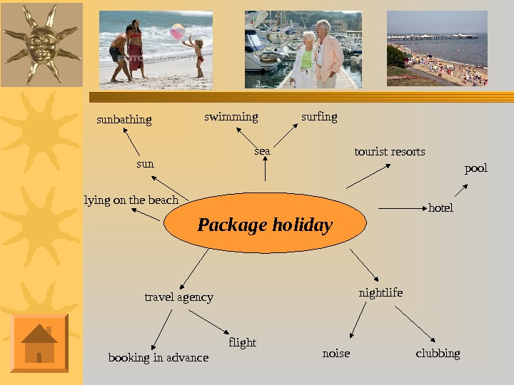 sunsunbathing sea Package holiday surfingswimming tourist resorts hotel pool nightlife clubbing booking in advance travel agency