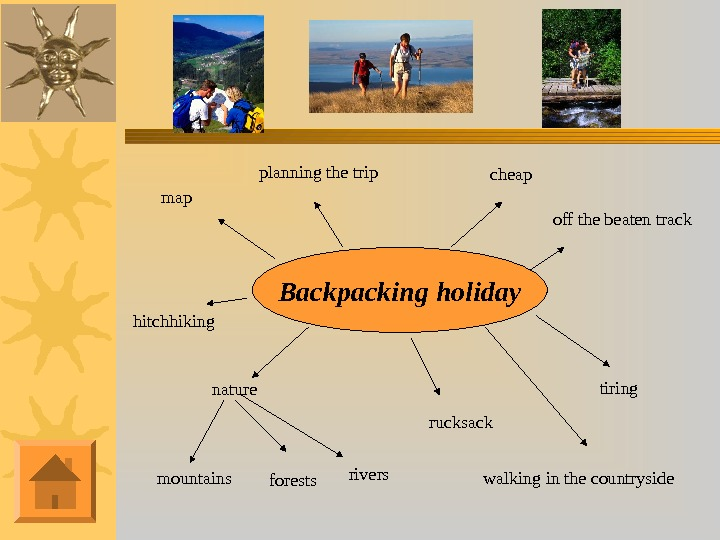 Backpacking holiday mountains nature forests rivers rucksackmap planning the trip cheap off the beaten track walking