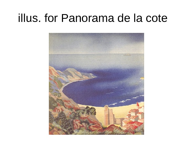 illus. for Panorama de la cote