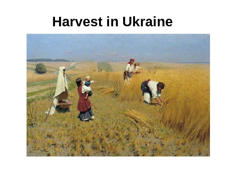 Harvest in Ukraine