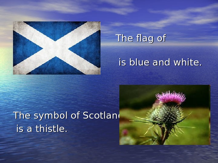The flag of Scotland      is