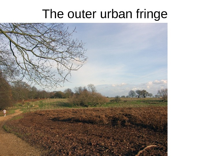 The outer urban fringe •