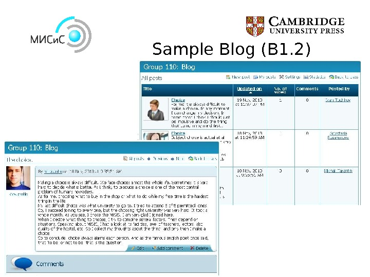 Sample Blog (B 1. 2)