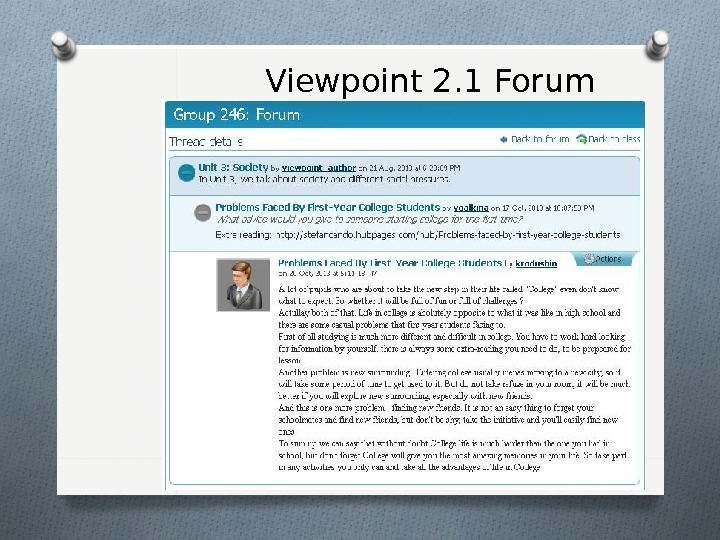 Viewpoint 2. 1 Forum