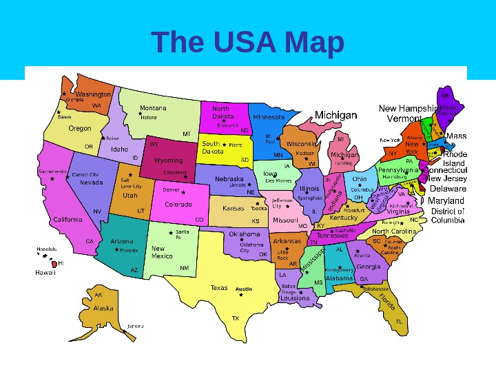 The USA Map