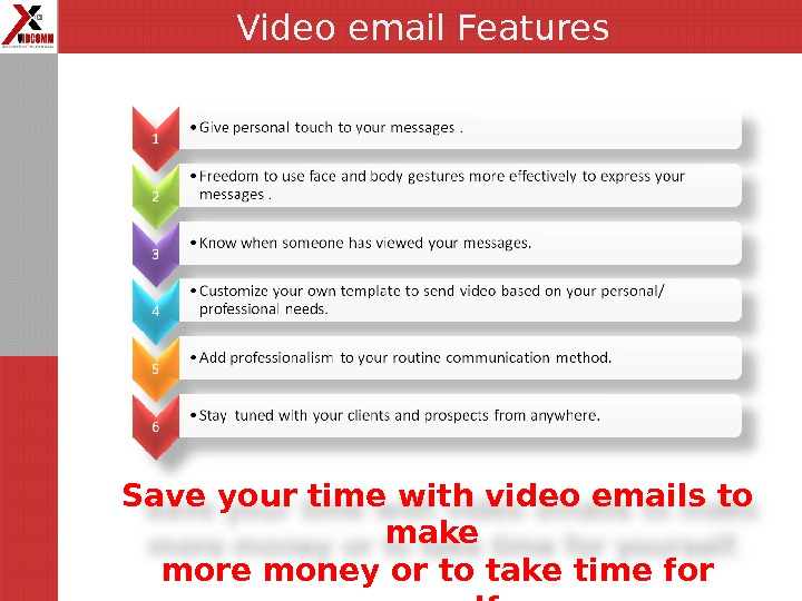 Save your time with video emails to make more money or to take time for yourself.