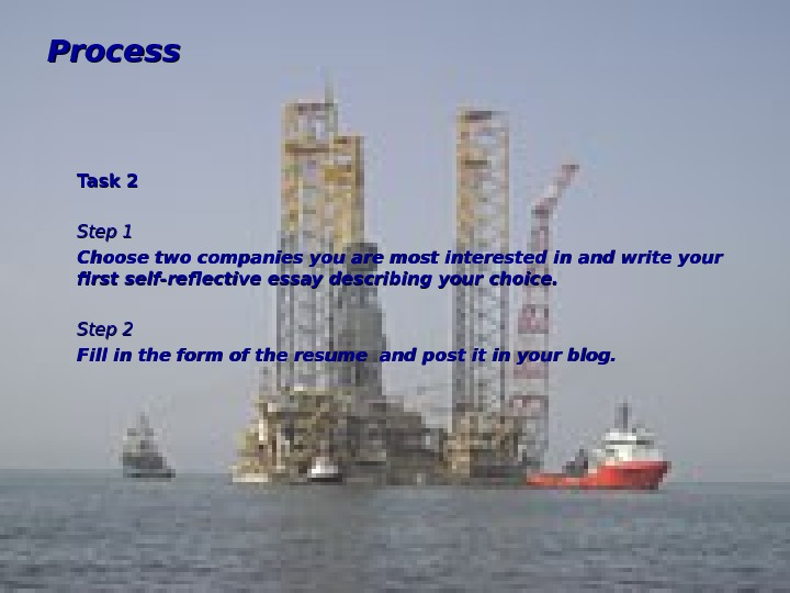 Process Task 2 Step 1 Choose two companies you are most interested in and
