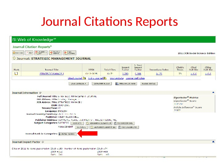 Journal Citations Reports