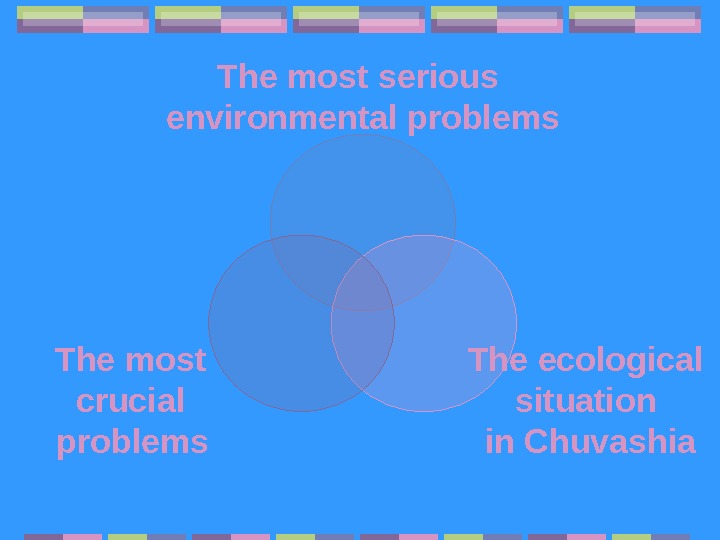 The most serious environmental problems The ecological situation in Chuvashia. The most crucial problems