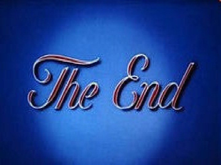 • The end.