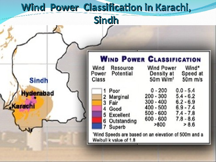 Wind Power Classification in Karachi,  Sindh