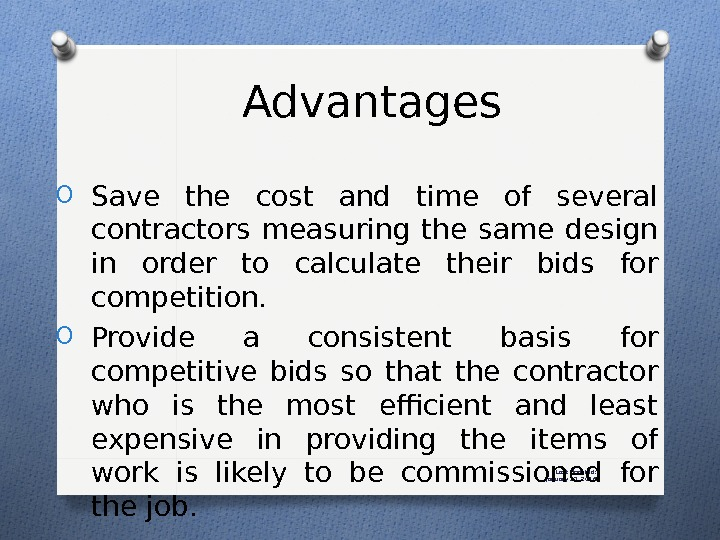 Last Updated: January 27, 2016 Advantages O Save the cost and time of several contractors measuring