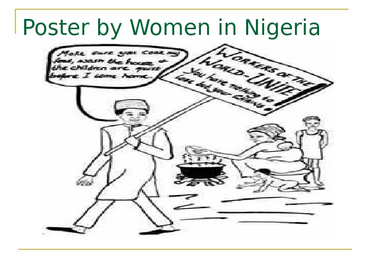 Poster by Women in Nigeria