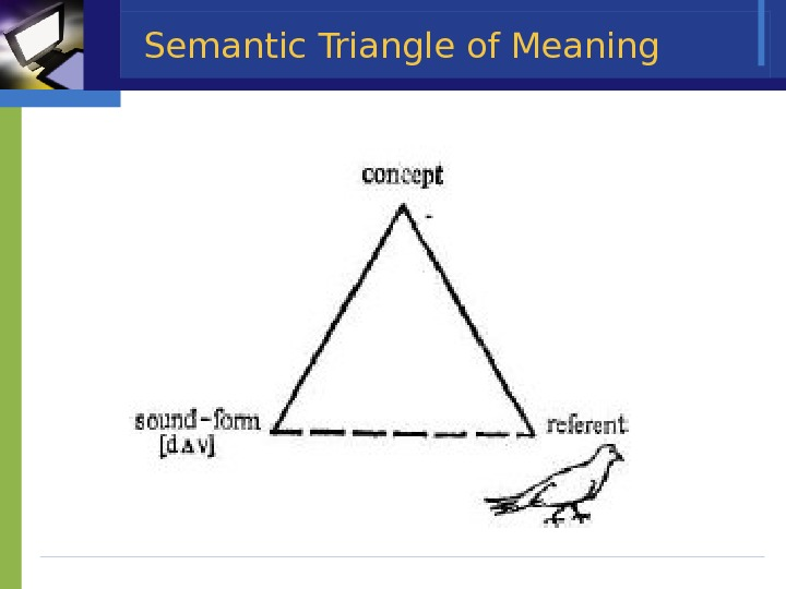 Semantic Triangle of Meaning