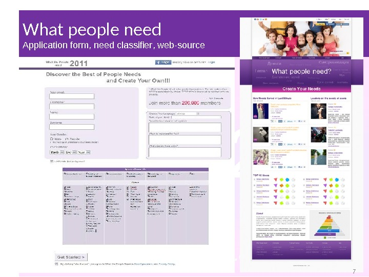What people need Application form ,  need classifier ,  web-source 7 7