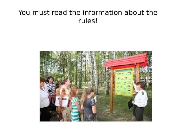 You must read the information about the rules!