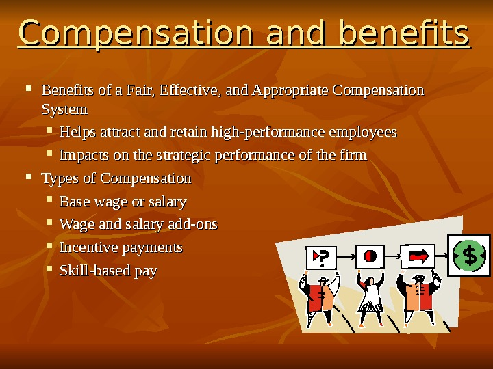 compensations and benefits The non-management work force is represented by four labor unions and receives compensation and benefits though bargained labor agreements.