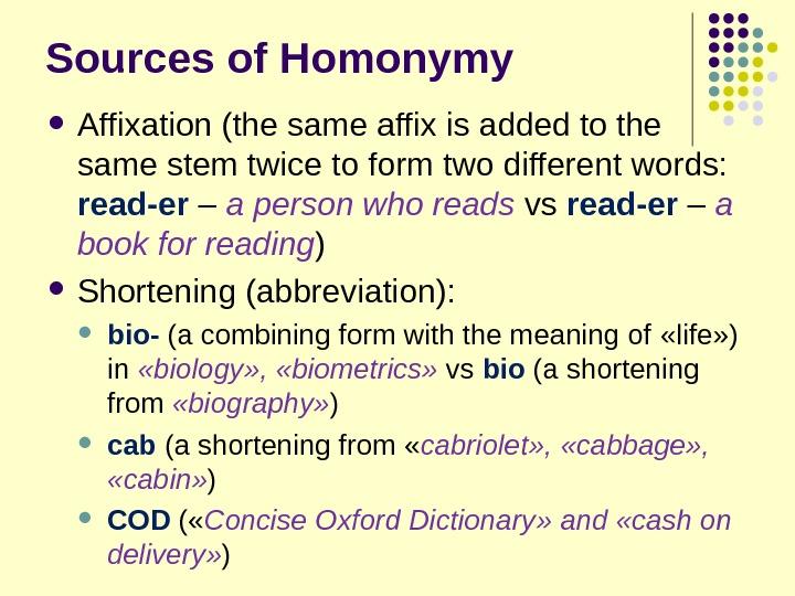 term paper homonimy