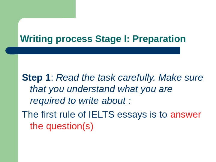 ielts essay writing rules Read more essay writing articles: the seven rules of using mla essay format the main advice in the issue how to prepare to write essay for ielts are.