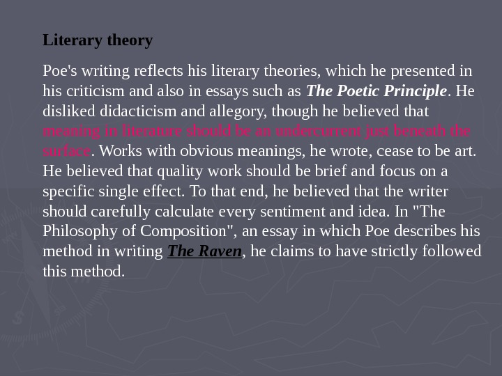 literary theory essay Extracts from this document introduction literary theory essay 2: feminism few myths have been more advantageous to the ruling caste than the myth of woman.