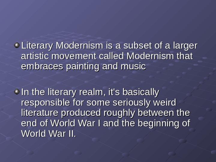 modernism writers